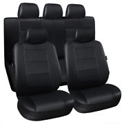 Car Seat Covers Leatherette Front Rear Auto Protector Full Set Cushion Universal