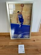 Ben Simmons Uda Upper Deck Signed Autograph Great From Above Framed Photo 23/125