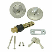 Ap Products 013-222-ss Dead Bolt Lock Set, 1 Throw - Stainless Steel