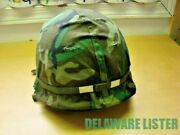Us Military Army Vintage Steel Pot Helmet W/new/cover Liner And Chin Strap
