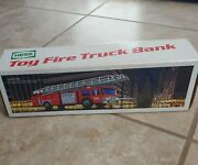 Hess Oil Company 1985 Toy Fire Truck Bank Model Vintage - New In Box - Very Rare