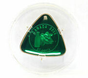Canada 2008 Triangle Milk Delivery Proof 50 Cent Silver With Green Enamel