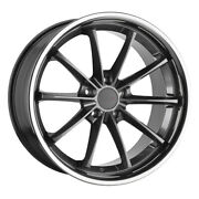 Tsw Sweep 19x8.5 5x120 Offset 35 Gloss Gunmetal With Stainless Lip Qty Of 4
