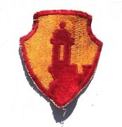 Vintage 1950and039s Original Wwii Us Army Yellow / Red Watch Tower Patch