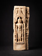 Antique Marble Jain Buddha From A Temple In Rajasthan From India 17th Century