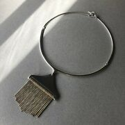 Hans Hansen Sterling Silver And Gilt Pendant Necklace No.314 By Bent Gabrielsen