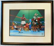 Muhammad Ali Signed Warner Brothers Empty That Glove Animation Cel Le /650