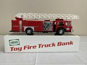1985 Hess Toy Fire Truck Bank | Lights Work And Box Included