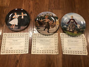 Sound Of Music Set Of Collectorand039s Plates - Knowles Lot Of 3