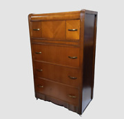Antique Square Brand Chittenden And Eastman Art Deco 4-drawer Waterfall Dresser