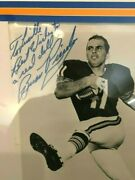 Brian Piccolo Autographed Black And White Chicago Bears 8x10 Photo With A Jsa Loa