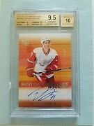 2015-16 Dylan Larkin Sp Authentic Rookie Sign Of The Times Auto Bgs 9.5/10 Read
