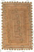 Scallop Jute Laurel Hand Made Rugbohemian Decor Inspire Customize In Any Size