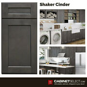 Shaker Cinder 10x10 All Wood Kitchen Cabinets. Soft Close Doors And Drawers.
