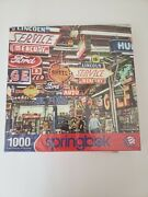 Springbok Puzzle American Icons Gas Auto Oil Signs 1000 Piece Jigsaw Brand New