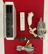 Nintendo Wii White/black Console Gamecube Compatible Bundle Memory Card Tested