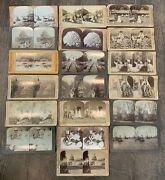 Set Of Of 19 Underwood And Underwood Antique Viewmaster Cards