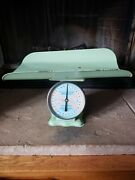Vintage American Family 30 Pound Nursery Baby Scale - Great Patina, Works Fine