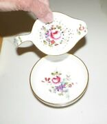 Royal Crown Derby Posies Two Piece Tea Bag Holder And Bowl In Original Box