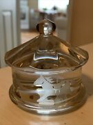 Baccarat Signed Crystal Carousel Merry-go-round Horse Etched Glass Paper Weight