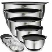 Mixing Bowls Set Of 5 Wildone Stainless Steel Nesting Bowls Assorted Colors