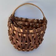 Wall Hanging Basket Vintage Signed Mike Reed Small