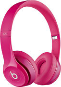 Beats By Dr. Dre Solo2 Wired Over The Ear Headphones - Pink With Case