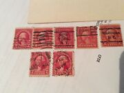 Antique 2 Cent George Washington Seven Total Variety Pack Lot Fully Authentic