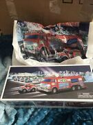 Hess 2005 Emergency Fire Truck With Rescue Vehicle New In Original Box Bag