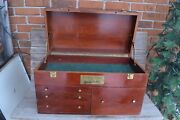 Vintage Black And Decker Wood Machinist Chest Tool Box