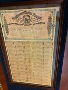 Confederate 500 Equestrian Bond Full Coupons - Framed Exc Cond Free Ship