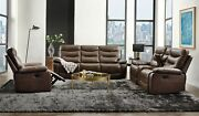 Acme Furniture Aashi Brown Leather Gel Match Sofa And Loveseat Living Room Set