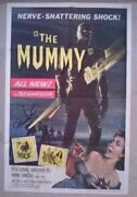 The Mummy Hammer Original Usa 1 Sheet 1959  27 X 41 Inches,stains On Poster