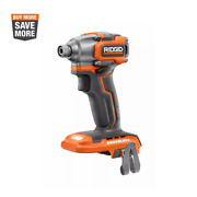 Rigid Hex Impact Driver 1/4 In Brushless Motor Sub Compact Design 18v Tool Only