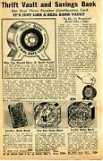 1940 Small Print Ad Of Thrift Vault And Savings Bank Popeye And Lucky Dime Bank