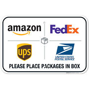 Package Delivery Sign Delivery Instructions Fedex Ups Usps Sign