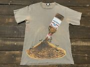 Vtg Budweiser Ant Frog Spuds Promo Beer 90s Single Stitch Double Sided Large