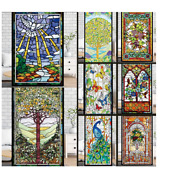 Glass Films Sticker Retro Church Painting Art Window Privacy Film Stained Glass