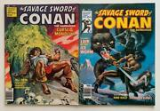 Savage Sword Of Conan 33 And 34 Marvel 1978 2 X Bronze Age Issues.