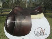 17.5 County Stabilizer Close Contact Jumping Saddle-wool Flocked-narrow Tree