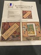 Rogers Hornsby Cut Auto Booklet Card 1/3 2018 Historic Autographs Strips Hof