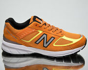 New Balance 990 Made In Usa Menand039s Orange Casual Lifestyle Sneakers Shoes
