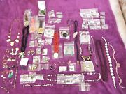 Mixed Vintage Jewelry Some Sterling Silver Earrings Rings Bracelets Costume +++