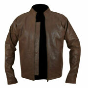 New Hot Jack Reacher Brown Cow Hide Leather Jacket