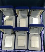 Zippo Lighters Sterling Silver 6 Different Models Rare And Collectible