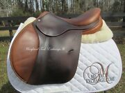 16.5 Antares French Close Contact Jumping Saddle-wide Ao Tree 5 2 On Trial