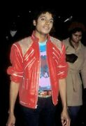 Michael Jackson Beat It Mj Beat It Real Leather Jacket With Real Metal Mesh