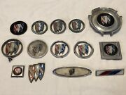 Lot Of 14 Vintage Buick Emblems, Hood Ornaments, And More
