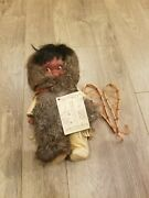 Vintage J And H 12 Eskimo Doll Inuit Yupik The People Of The North Collectible