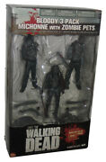 The Walking Dead Series 3 Bloody Bandw Michonne And Zombie Pets 2013 Mcfarlane Toy